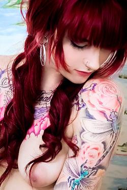 Amateur Teen Helen Jade Tattoed Virgin for Suicide Girls
