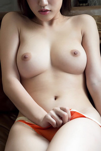 Busty Asian Suzu Mitake Takes Off Her Orage Panties