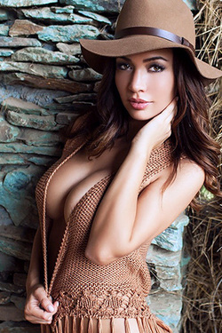 Darn Hot Adrienn Levai Posing In A Barn