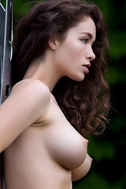 Vika A Nude Alone In The Forest